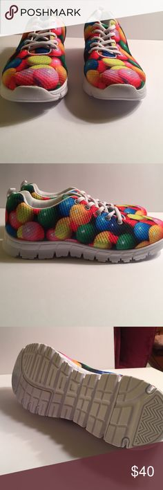 For U Design Sneaker in Multicolor Balls Design Jazzy sneaker from For U Design who are known for their creative patterns on their shoes. This shoe has Multicolor balls as the design. Never worn in excellent condition. For U Design Shoes Athletic Shoes