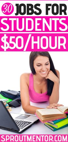 30 online jobs for students to earn money! These are perfect side hustles and part-time work from home jobs. Work From Home Companies, Online Work From Home, Work From Home Opportunities, Work From Home Tips, Make Money From Home, Way To Make Money, Online Jobs For Students, Jobs For Teens, Student Jobs