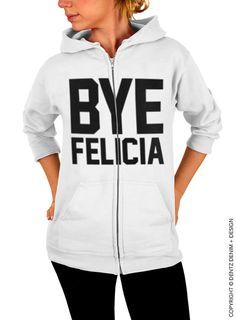 "Use coupon code ""pinterest"" Bye Felicia - White Zip Up Hoodie by DentzDenim"