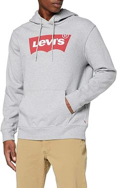 Sehr schöner Hoodie  Bekleidung, Herren, Sweatshirts & Kapuzenpullover, Kapuzenpullover Levis, Hoodie Sweatshirts, Hoodies, Olympic Logo, The North Face, Grey Hoodie, Blue Dresses, Heather Grey, Hooded Jacket