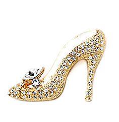 Gold Tone High-heeled Shoes / Pump Brooch Pin