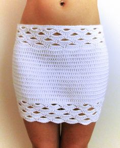 Shell Crochet Mini Skirt PDF Pattern by chezpascale on Etsy