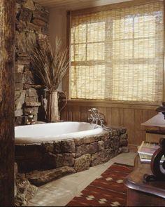 48 Inspiring Ideas For Rustic Bathroom Design > Fieltro.Net inspiring ideas for rustic bathroom design 24 Related Rustic Bathroom Designs, Rustic Bathrooms, Dream Bathrooms, Bathroom Ideas, Bathtub Ideas, Rustic Bathtubs, Primitive Bathrooms, Cozy Bathroom, Bathroom Colors