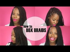 Swell How To Box Braid Protective Styles And Box Braids On Pinterest Short Hairstyles For Black Women Fulllsitofus