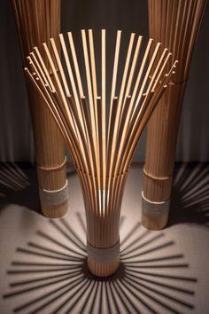 Bamboo Light, Bamboo Lamp, Diy Lampe, Wood Pendant Light, Bamboo Crafts, Bamboo Design, Bamboo Furniture, House Plants Decor, Wooden Lamp