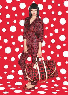 Louis Vuitton x Yayoi Kusama pinned by www.fashion.net