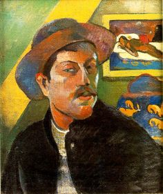 Paul Gauguin, Self-Portrait, 1893-4 {I love his use of color}