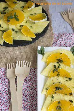 Piña con naranja bañada con miel al toque de menta   El recetario de mi cocina