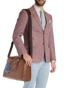 2f181859dd448 Contrast leather document bag - Tan