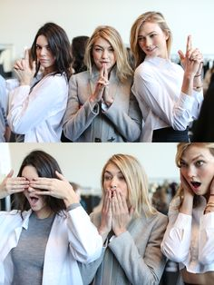 Kendall, Gigi and Karlie at Michael Kors Show in NYC.