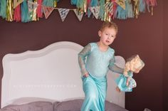 Evangeline Being Elsa. A dress-up photo session by N. Lalor Photography. Stamford Connecticut.