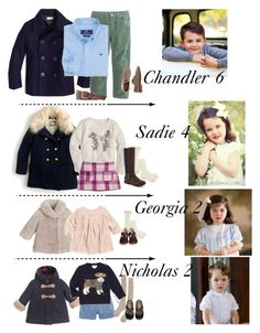 """The Garcia Family"" by my-preppy-family ❤ liked on Polyvore featuring Tartine et Chocolat, J.Crew, Bonpoint, Oscar de la Renta, Rachel Riley, Il Gufo, Samantha Holmes, Ralph Lauren, Vineyard Vines and Avery"