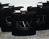 4 Flasks Wedding party favors, Set of 4 engraved Flasks, Groomsmen flask, Best man flask, groomsman, 6oz flask., flask, personalized flask,