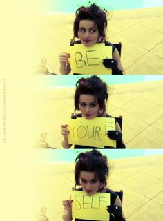 """""""When I was young I had so many inferiority complexes. I had an inferiority complex because I didn't go to university. I had an inferiority complex because I didn't train. Then it gets tiring. And you do get bored of it."""" - Helena Bonham Carter"""