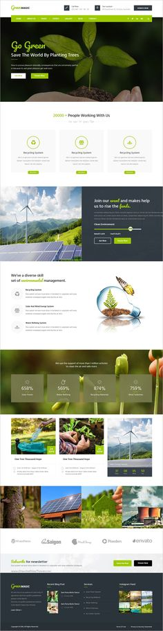Green Magic is a wonderful 3in1 #Bootstrap template perfect to #promote your #environmental projects or your green products business websites download now➩ https://themeforest.net/item/green-magic-environment-nonprofit-html-template/19016122?ref=Datasata
