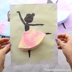 COFFEE FILTER BALLERINA - - such a fun ballerina craft for kids! crafts for kids for teens to make ideas crafts crafts Halloween Crafts For Kids, Paper Crafts For Kids, Diy Arts And Crafts, Creative Crafts, Paper Crafting, Decor Crafts, Creative Ideas For Kids, Diy Paper Crafts, Art And Craft