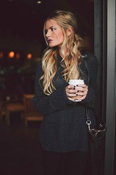 Hair that has it all.  Love the mix of colors and the half up half down look.