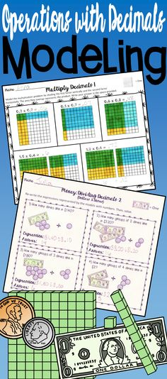Add, Subtract, Multiply, & Divide Decimals Modeling: Help students develop a… Multiplying Decimals, Dividing Decimals, Percents, Fractions, Math Lesson Plans, Math Lessons, Math Charts, Math Coach, 5th Grade Teachers