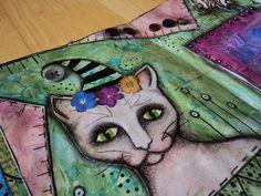 """Art Journal by *Silkku* """"When we say the cat character ..."""" silkkus.blogspot.fi"""