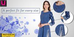 Designer Kurtis for every size. #NextSize Visit : http://nextsize.in/
