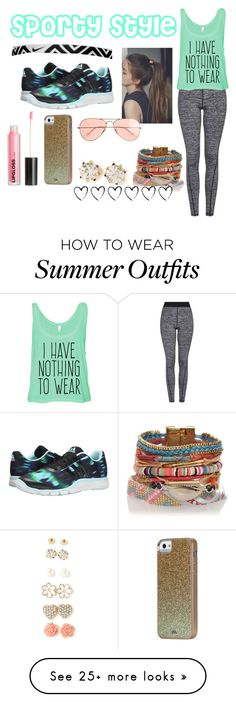 """""""sporty style"""" by averyr2005 on Polyvore featuring adidas, Topshop, NIKE, H&M, Forever 21, Case-Mate and J.Crew"""