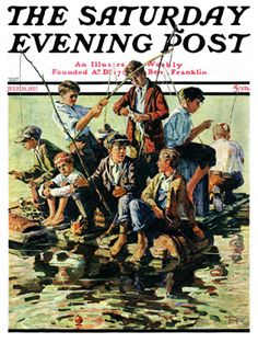 Raft Fishing by Eugene Iverd, July 30, 1927, The Saturday Evening Post.
