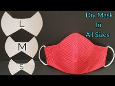 Diy Mask, Diy Face Mask, Sewing Tips, Sewing Hacks, Diy Home Crafts, Couture, Sewing Techniques, Fitness, Easy