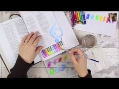 ▶ Stamping Technique With Watercolor - Bible Art Journaling Challenge Week 4 - YouTube