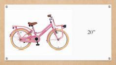 """Pigecykler i hvid, lyserød og turkis, fra 12"""" til 20"""""""