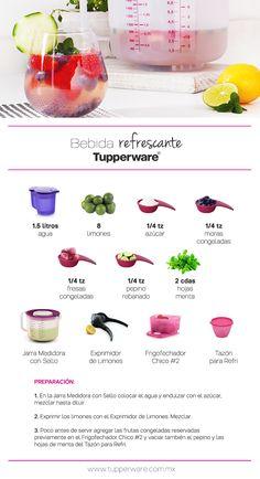 Bebida refrescante #RecetaTupperware #Tupperware