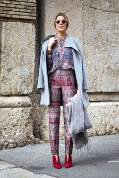 Best Milan Fashion Week Street Style Fall 2015 - Street Style from Milan Fashion Week LOVE this LOOK