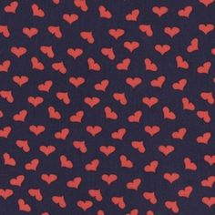 Jack and Lulu - French Lessons - Scattered Hearts in Navy