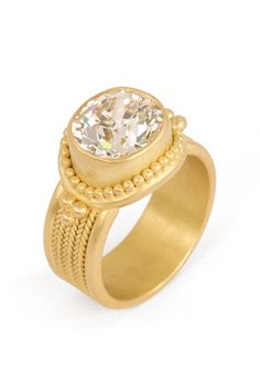 """Brides.com: . """"Salome"""" ring in 20K peach gold with an oval-cut diamond, price upon request, Reinstein/Ross"""