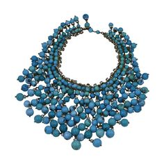 Chanel Important  Anglo Indian Gripoix Bib | From a unique collection of vintage beaded necklaces at https://www.1stdibs.com/jewelry/necklaces/beaded-necklaces/