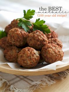 The Best Meatballs Ever With Ground Chuck, Dry Bread Crumbs, Large Eggs, Whole Milk, Grated Romano Cheese, Spanish Onion, Garlic, Italian Parsley Leaves, Fresh Basil Leaves