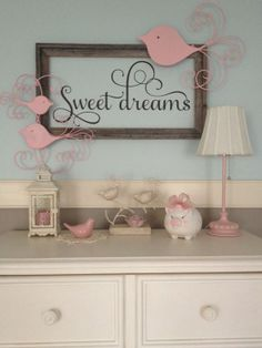 Sweet Dreams Nursery Vinyl Wall Decal by TheDecalGirl on Etsy
