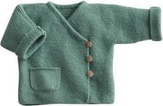 Love this style sweater! Blij dat ik brei: Baby-vestje, link to pattern (in Dutch) below on Telegraaf website Baby Knitting Patterns, Knitting For Kids, Baby Patterns, Knitting Yarn, Knit Baby Sweaters, Knitted Baby Clothes, Cardigan Bebe, Baby Cardigan, Crochet Baby