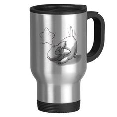 Milo Mug...  You don't have to give up a colorful, funny, or attractive design for the function of a top-notch travel mug. Zazzle's commuter mugs feature a rubber-lined lid for a tight, spill-resistant seal. Just twist the lid to reveal the sip opening. Our travel mugs are made of double-walled stainless steel that will keep your coffee piping hot through a busy morning or long commute. They are not only durable, but are also easy to clean.  Disc: Affiliate Link