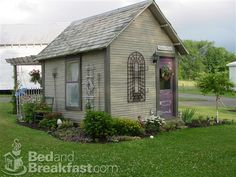This would make such a cute potting shed or guest cottage.  You can stay in this little cottage at Willow Creek Bed and Breakfast, 10557 Soehnlen RD NW, Beach City, OH 44608