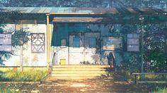 Night talk Digital Art by Rybinsk, Russia based freelance artist Arseniy Chebynkin. Episode Backgrounds, Summer Backgrounds, Anime Scenery Wallpaper, Wallpaper Art, Landscape Concept, Anime Kunst, Art Pictures, Digital Illustration, Game Art