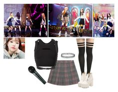 BLACK PINK - Boombayah Live by snsd-twice on Polyvore featuring polyvore Helmut Lang Dr. Martens Topshop Fleet Ilya fashion style clothing