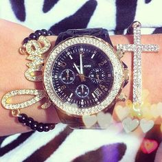 Black Michael kors watch with a little love and faith
