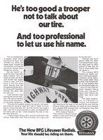 BF Goodrich Lifesaver Radial Tires 1970 Ad Picture