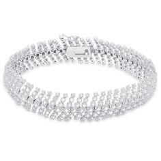 Finesque Sterling Silver 3ct TDW Diamond Bracelet