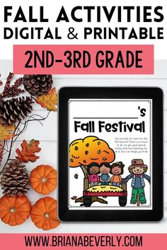 Fall resources for 2nd and 3rd grade elementary students. Digital math activities for fall in the classroom that are perfect for distance learning, or use printable math activities for classroom teaching or to send home during distance teaching. These seasonal, fall activities are engaging, fun ways for students to review math skills while being easy on teachers! Fun Math Activities, Autumn Activities, Maths Investigations, Math Skills, Math Centers, Fun Crafts, Distance, Students, Printable