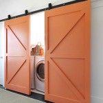 sliding doors to laundry room