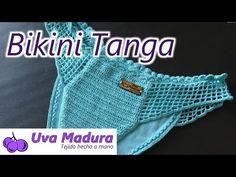 Crochet Crochet Thong Bikini Swimwear paso a paso - Bikinis a crochet - Crochet Cord, Double Crochet, Crochet Hooks, Bikini Swimwear, Bikini Tops, Thong Bikini, Hand Knitting Yarn, Crochet Bikini Pattern, Crochet Supplies