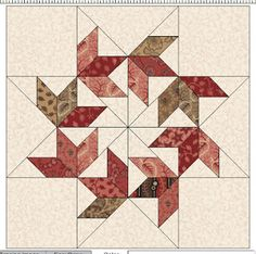 Cloud of Quilt Patterns: Flying Swallows