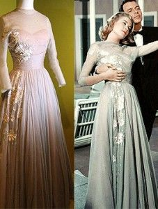 Grace Kelly in still from High Society, and the dress was on display in her exhibition in Monaco. It since was on display in NYC and was auctioned off at the Princess Grace Awards in Oct 2007, to benefit the Foundation.