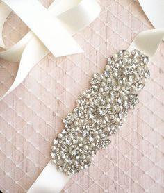 SALE Swarovski Rhinestone Pearl Wedding Sash - NEW 2013 - S6